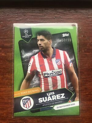 Topps On Demand Summer Signings 20/21 Luis Suarez Green 27/99 • 2.50£