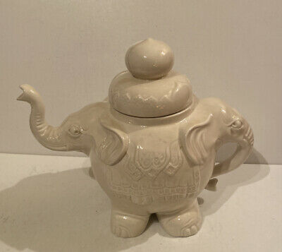 Vintage Woods Double Headed Elephant Decorative Ceramic Teapot • 49.99£