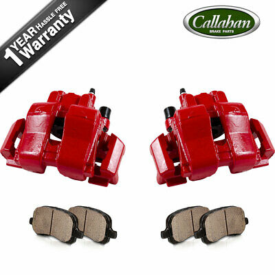 $181.28 • Buy Front Red Powder Coated Brake Calipers & Ceramic Pads For 2008 Escape Mariner