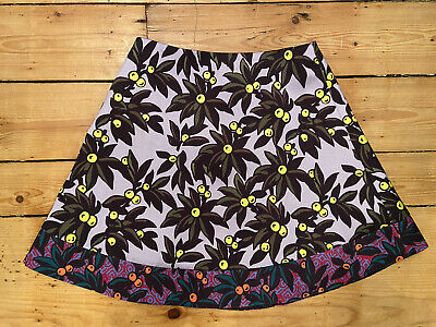 Topshop Boutique Mini Floral Silk Skirt 8 S Short Urban Outfitters • 2.18£