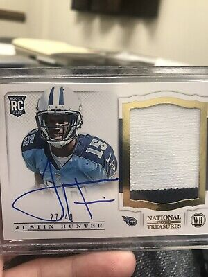 $7 • Buy 2013 Justin Hunter National Treasures Rc Auto 27/49 Titans Tennessee