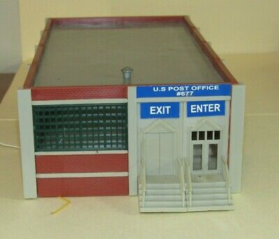 $ CDN7.58 • Buy Ho Scale US POST OFFICE BUILDING With Interior Light For Model Train Layouts