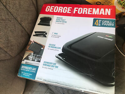 George Foreman 4 Serving Removable Plate Electric Indoor Grill Panini Press  • 33.80£