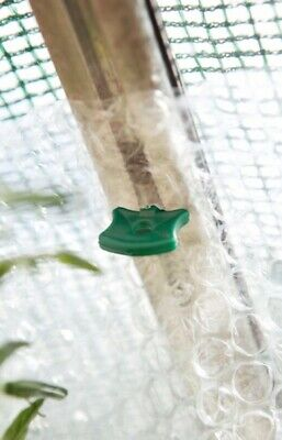 SupaGarden Pack Of 50 Original Plastic Alliplugs Greenhouse Insulation Clips • 3.69£