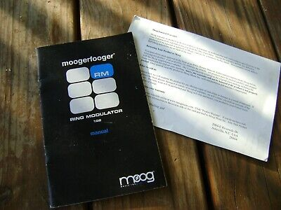 AU20.65 • Buy 2000's Moog MoogerFooger Ring Modulator Owners Manual And Warranty Card