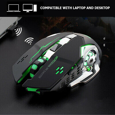 AU13.82 • Buy LED Wireless Gaming Mouse Optical PC Game Mice USB Rechargeable For PC Laptop AU