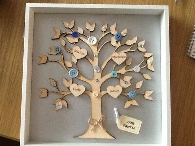 £16.99 • Buy Family Tree Personalised Box Picture Frame Gift Present