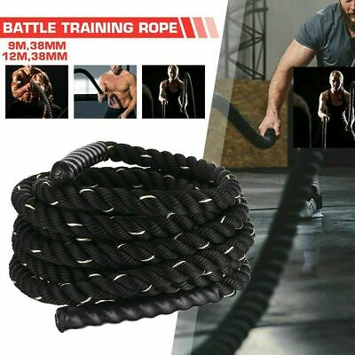 AU49.95 • Buy 9M/12M 38mm Home Gym Battle Rope Battling Strength Training Exercise Bootcamp