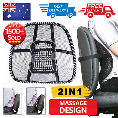 AU12.95 • Buy 2x Mesh Lumbar Back Support For Office Home Car Seat Chair Truck Pillow Cushion