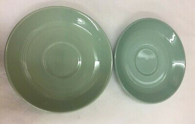 VINTAGE Woods Ware Beryl (Green) 2 X Saucers - Ideal Replacements (D3) • 2.99£