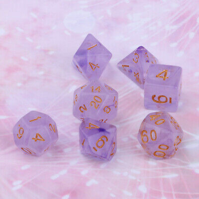 AU9.54 • Buy 7/Set D4 D6 D8 Dice Game 1.6cm Sided Gem Dice For TRPG D&D Polyhedral Dices