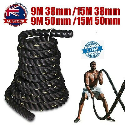 AU62.49 • Buy 9M 15M Heavy Home Gym Battle Rope Battling Strength Training Exercise Fitness M
