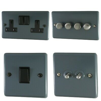 £19.95 • Buy Standard Plate Dark Grey CDGB Light Switches, Plug Sockets, Dimmers, Cooker Fuse