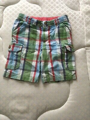 Frugi Shorts 3-4 Years Organic Cotton Boys Cargo Checked • 8£
