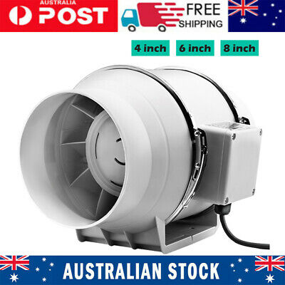 AU43.26 • Buy 4 /6 /8  100/150/200mm Hydroponic Inline Exhaust Fan Silent Extractor Turbo 150