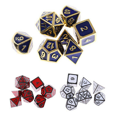 AU20.86 • Buy Set Of 7 Polyhedral Dice D4 D6 D8 D10 D12 D20 For Roleplaying Game DND Game