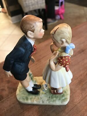 """$ CDN6.29 • Buy Vintage Norman Rockwell """"A Day In The Life Of A Girl"""" Gorham Porcelain Figurine"""