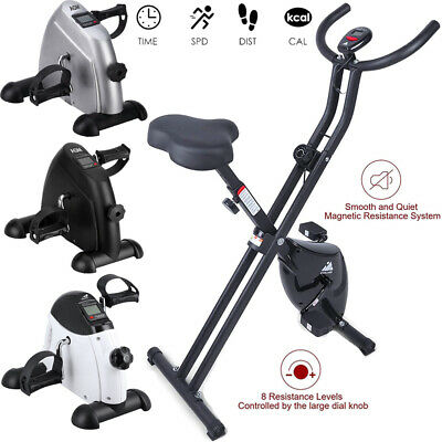 £109.99 • Buy Foldable Magnetic Exercise Bike LCD Bicycle Fitness Trainer Weight Loss Machine