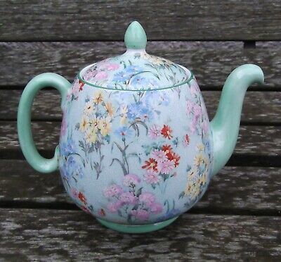 Shelley Floral Decorated Tea Pot Chintz - Melody Pattern Internal Chips To Lid.  • 21£