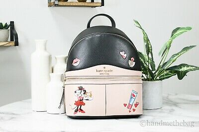 $ CDN319.57 • Buy Minnie Mouse X Kate Spade Limited Edition Medium Pebble Leather Backpack Bag