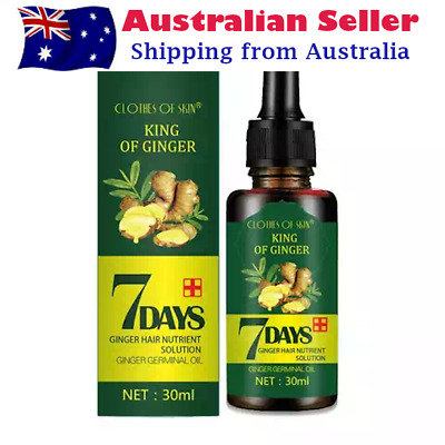 AU18 • Buy Regrowth 7Day Ginger Germinal Hair Growth Serum Hairdressing Oil Loss Treatment
