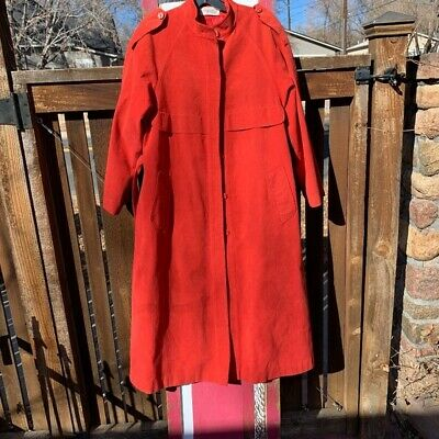 $ CDN42.31 • Buy Vintage Count Romi Red All Weather Traveler Trench Coat Size 8