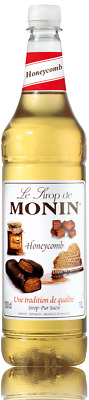 1 Litre Monin Honeycomb Honeycombe Coffee, Cocktail Syrup Plastic Bottles 100cl • 10.99£