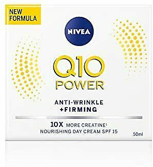 Nivea Q10 Power Anti-Wrinkle + Firming Day Cream SPF15 (50 Ml), Anti Ageing Cre • 6.84£