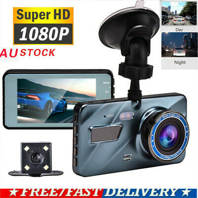 AU21.69 • Buy 4  1080P HD Dual Lens Car DVR Front And Rear Camera Dash Cam Video Recorder New