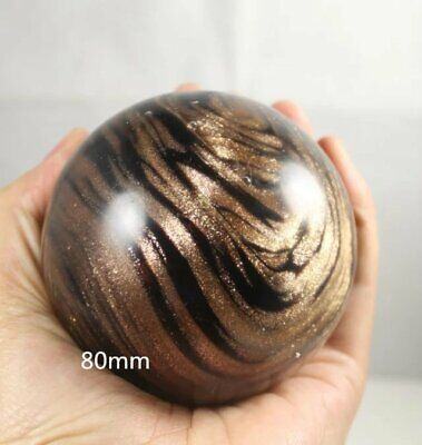 Souvennature Golden Sand Crystal Gemstone Sphere Ball Reiki Healing 80 Mm +stand • 28£
