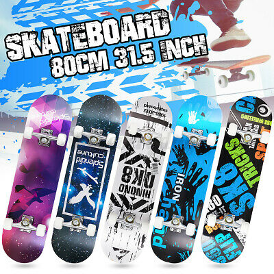 31.5'' Kids Adult Skateboard Complete 9 Ply Maple Board Beginner To Pro Outdoor • 26.77£