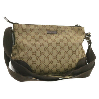 AU180.08 • Buy GUCCI GG Canvas Shoulder Bag Brown Auth 20211