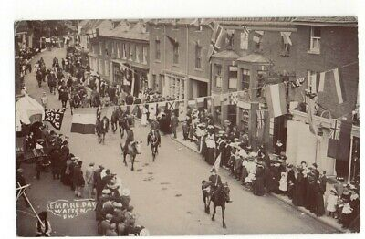 Rp Watton Empire Day High Street Real Photo Norfolk 1907   • 5£