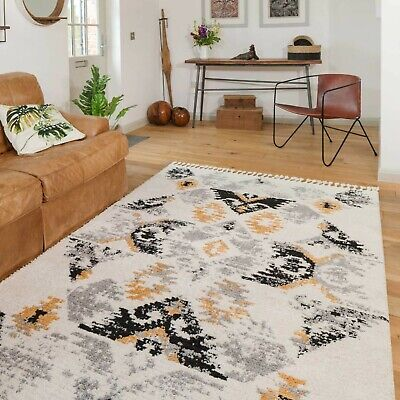 £29.95 • Buy Low Pile Shaggy Rug  For Living Room Moroccan Style Super Soft Dense Area  Rugs