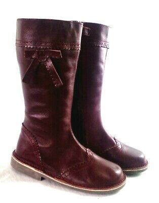 Ladies Monsoon Leather Burgundy Winter Boots • 4.99£