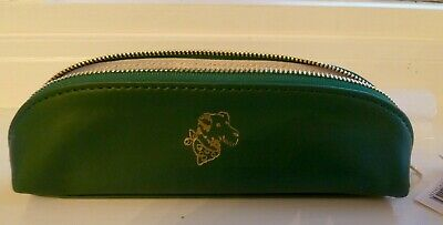Cath Kidston Pencil Case Dark Green With Gold Embossed Stanley Dog Bnwt • 7.40£
