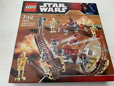 Lego Star Wars 7670 Hellfire Droid & Spider Droid - COMPLETE With Instr. And Box • 24.99£