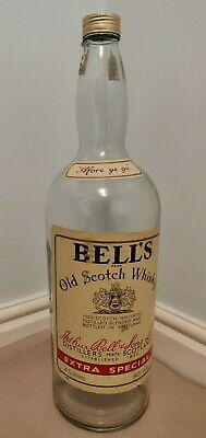 Vintage Bells Large 4.5 Litres Embossed Collectable Whisky Bottle / Money Box • 15£