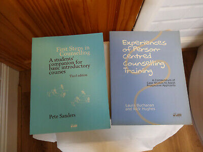 First Steps In Counselling & Experiences Of Person Centred Counselling Books. • 4£