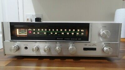Sansui 221 Receiver , 8 Watts A Channel , Lightly Serviced, Vintage HiFi Stereo • 71£