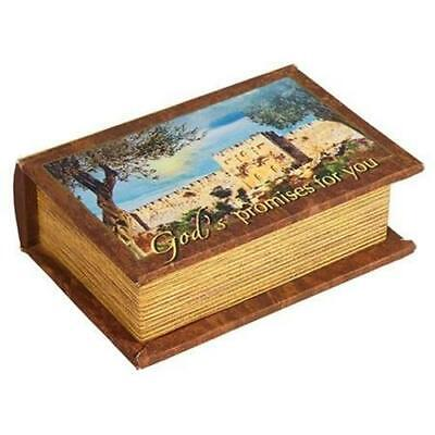 £17.95 • Buy God's Promise Box 120 Bible Verse Cards In Beautiful Painted Canvas Cloth Box