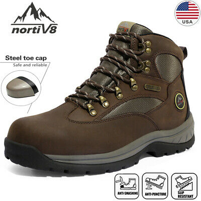 $50.39 • Buy NORTIV 8 Men's Steel Toe Work Boots Safety  Construction Combat Work Shoes Size