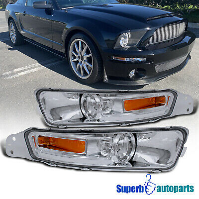 $26.98 • Buy For 2005-2009 Ford 05-09 Mustang GT Parking Signal Lights Smoke Bumper Lamps