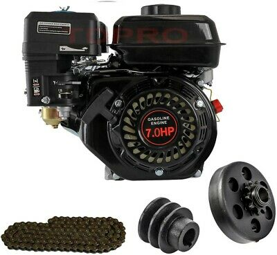 AU319.99 • Buy 7.5HP Petrol Engine OHV Stationary Motor 4 Stroke 20mm Horizontal Shaft Clutch