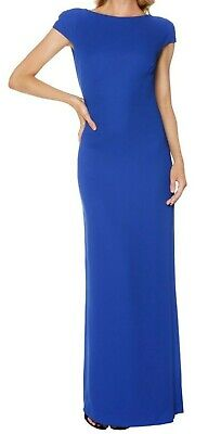 AU95 • Buy Carla Zampatti Cut Out Maxi Dress/gown – Blue, Size 6