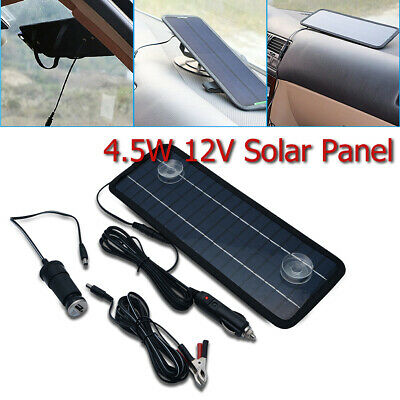 12V Car Solar Panels 4.5W Power Supply Trickle Battery Charger Boat Durable UK • 16.99£