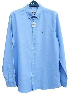 BARBOUR Mens Tailored Fit Sky Blue Long Sleeved Buttoned Shirt M MRRP £69.95 • 54.99£