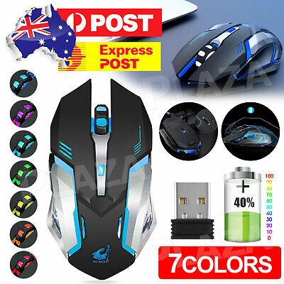 AU15.85 • Buy LED Wired Wireless Gaming Mouse USB Ergonomic Optical For PC Laptop Rechargeable
