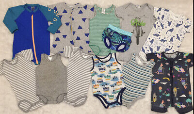AU13.50 • Buy BONDS Baby Boys Size 0 Bulk Lot Of Clothing- 12 Items- Great Preloved Condition