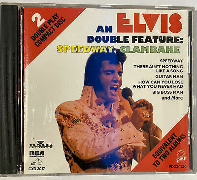 Elvis Presley CD DOUBLE FEATURE: SPEEDWAY CLAMBAKE - RCA SPECIAL PRODUCTS CD • 4.19£